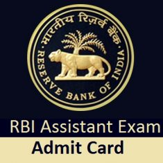 RBI Assistant Mains Admit Card 2020 Exam Date Pre Mains